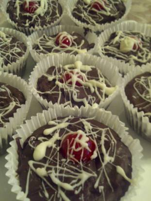 Black Forest Fudge Cups