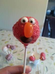 Elmo Cake Truffle Pops