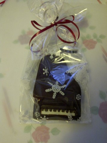 Piano Box made completely of chocolate