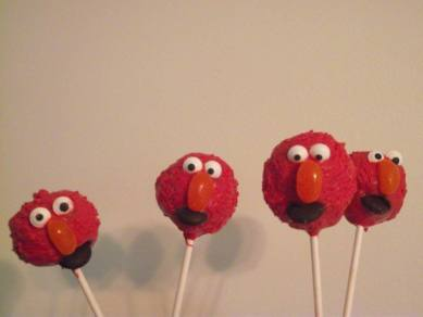 Elmo and his brothers Cake Truffle Pops